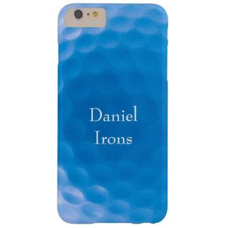 Textura Dimples_Arctic Blue_personalized de la Funda Para iPhone 6 Plus Barely There