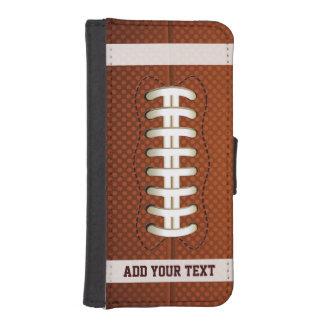 Textura elegante del fútbol con el texto de billetera para iPhone 5