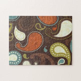 Textura enrrollada de Paisley Rompecabezas Con Fotos
