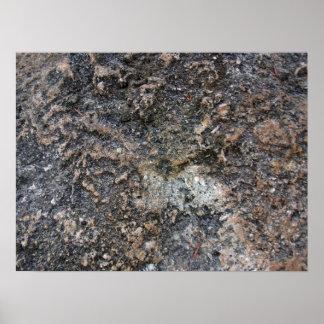 Textura envejecida de la roca posters