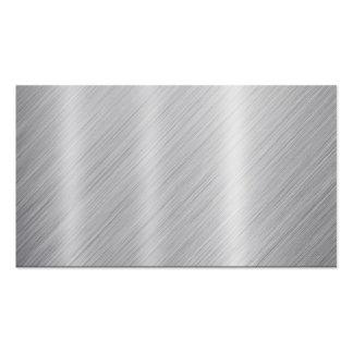 Textura espacio en blanco inoxidable del acero tarjetas de visita