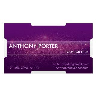 Textura estrellada - púrpura tarjetas de visita