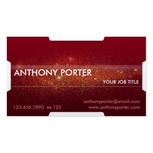 Textura estrellada - rojo tarjetas de visita