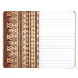 Textura étnica de Brown Cuaderno Grapado