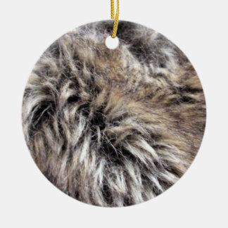 Textura falsa de la piel ornamentos de navidad