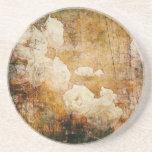 textura floral del fondo del vintage del grunge de posavasos diseño