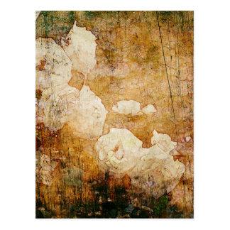 textura floral del fondo del vintage del grunge de tarjeta postal