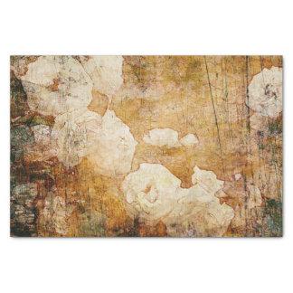 textura floral del fondo del vintage del grunge papel de seda pequeño