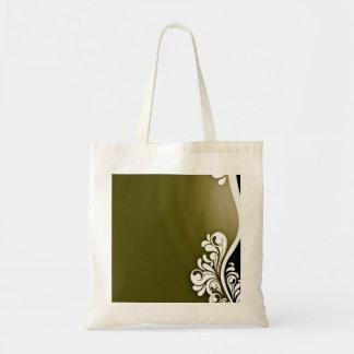 Textura floral y verdosa blanca pura bolsas