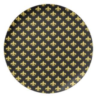 Textura francesa de New Orleans de la flor de lis  Platos De Comidas