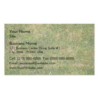 Textura fresca de la hierba verde tarjetas de negocios