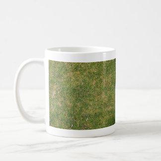 Textura fresca de la hierba verde tazas de café