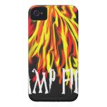 Textura fresca de los ricos del fuego del campo Case-Mate iPhone 4 coberturas