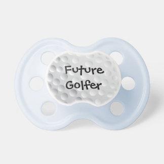 textura futura de la pelota de golf del golfista chupetes