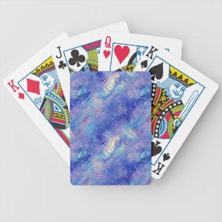 Textura garabateada azul del zafiro baraja cartas de poker
