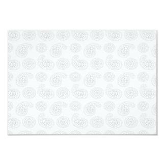 """Textura grande sutil del pañuelo de Paisley Invitación 3.5"""" X 5"""""""