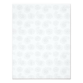 """Textura grande sutil del pañuelo de Paisley Invitación 4.25"""" X 5.5"""""""