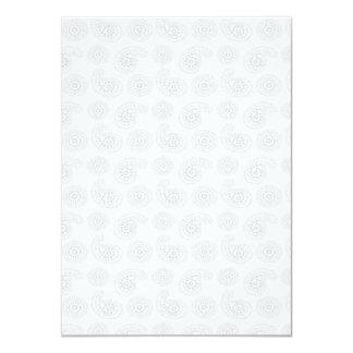 """Textura grande sutil del pañuelo de Paisley Invitación 4.5"""" X 6.25"""""""