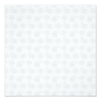 """Textura grande sutil del pañuelo de Paisley Invitación 5.25"""" X 5.25"""""""