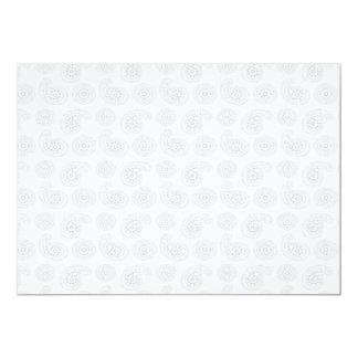 """Textura grande sutil del pañuelo de Paisley Invitación 5"""" X 7"""""""