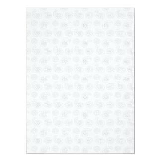 """Textura grande sutil del pañuelo de Paisley Invitación 6.5"""" X 8.75"""""""