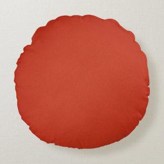 Textura granosa roja caliente moderna cojín redondo
