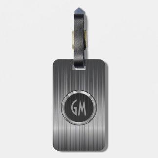 Textura gris brillante de la fibra de carbono etiquetas para maletas