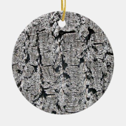 Textura gris de la corteza adorno