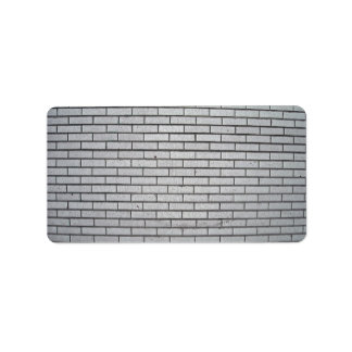 Textura gris de la pared de ladrillo etiquetas de dirección