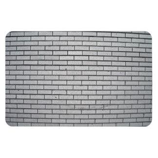 Textura gris de la pared de ladrillo imán rectangular