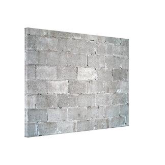 Textura gris de la pared de ladrillo impresión en lienzo estirada