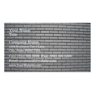 Textura gris de la pared de ladrillo plantillas de tarjeta de negocio