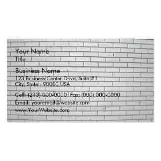 Textura gris de la pared de ladrillo tarjetas de visita