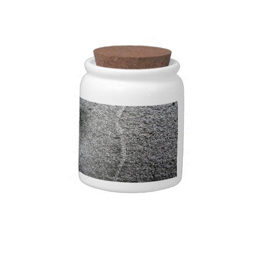 Textura gris de la roca plato para caramelo