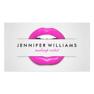Textura gris de los labios rosados frescos del tarjetas de visita