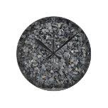 Textura gris de los microprocesadores de la pizarr reloj de pared