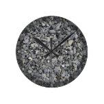 Textura gris de los microprocesadores de la pizarr relojes de pared