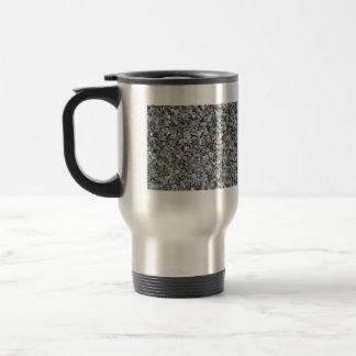 Textura gris de los microprocesadores de la pizarr taza de café