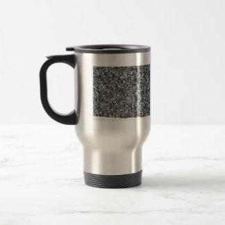 Textura gris de los microprocesadores de la pizarr tazas de café