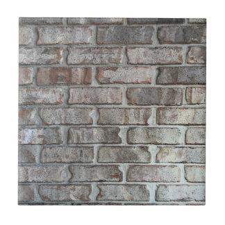 Textura gris del fondo de los ladrillos del Grunge Azulejo Cuadrado Pequeño