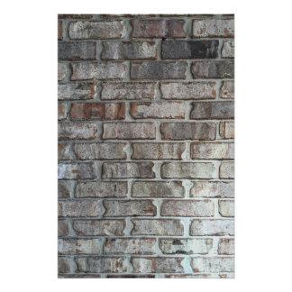 Textura gris del fondo de los ladrillos del Grunge Perfect Poster