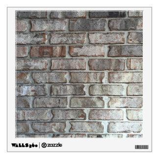 Textura gris del fondo de los ladrillos del Grunge Vinilo