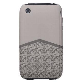 Textura gris del houndstooth iPhone 3 tough fundas