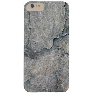 Textura gris erosionada de la roca funda de iPhone 6 plus barely there