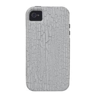 Textura gris/gris del crujido vibe iPhone 4 carcasas