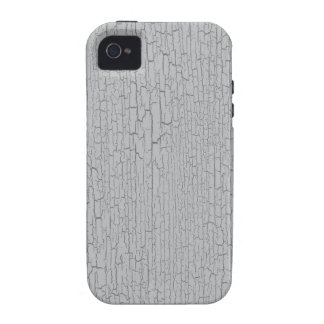 Textura gris/gris del crujido iPhone 4/4S carcasas