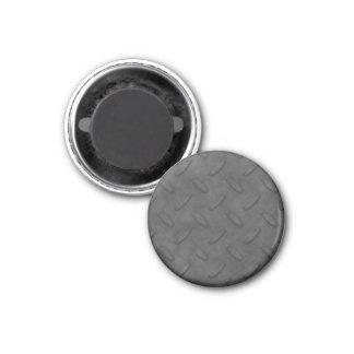Textura gris oscuro de la placa del diamante imán redondo 3 cm