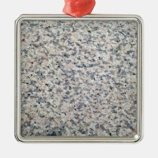 Textura gris y blanca del granito adorno de navidad