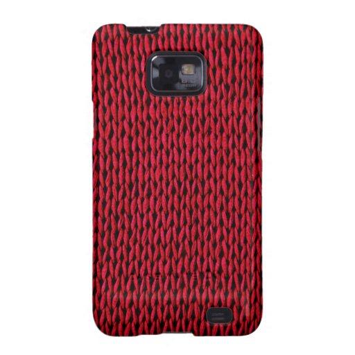 Textura hecha punto rojo samsung galaxy SII carcasas