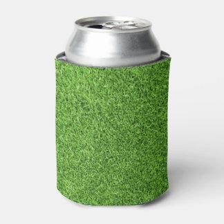 Textura hermosa de la hierba verde del campo de enfriador de latas